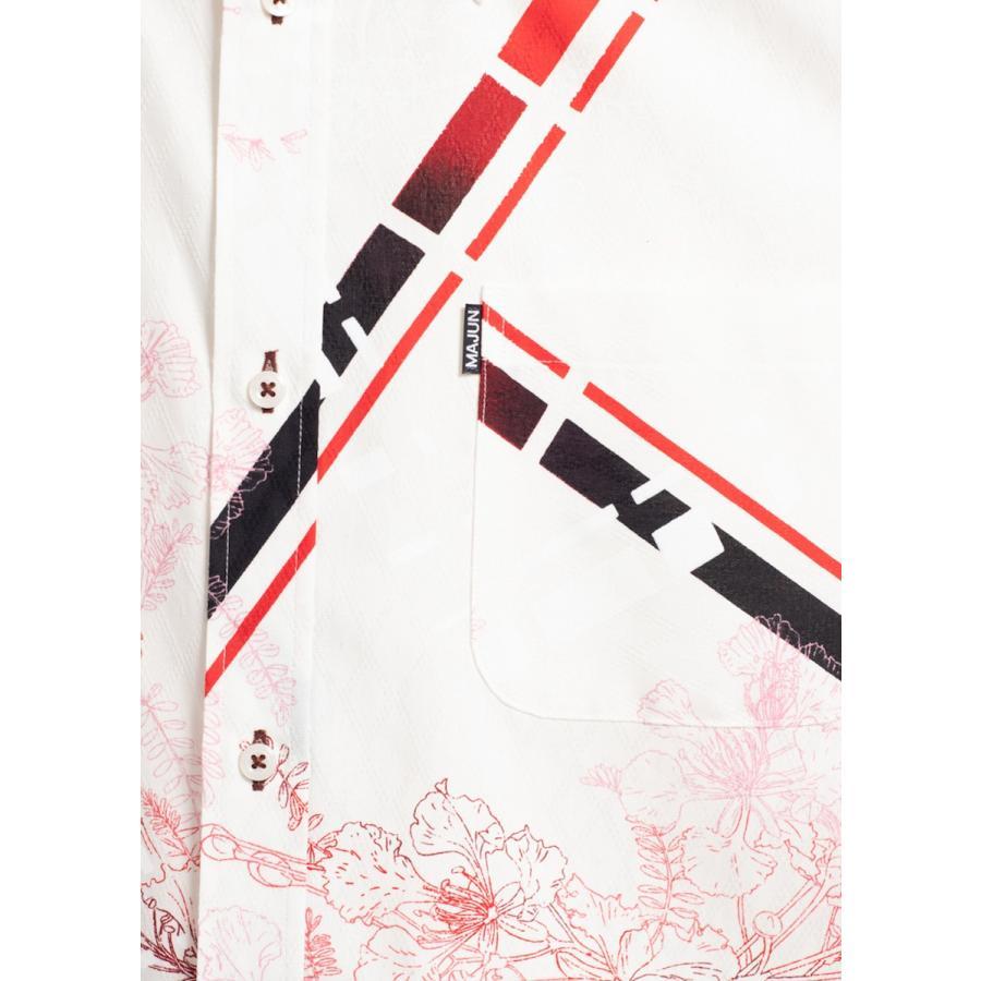 かりゆしウェア 沖縄 アロハシャツ MAJUN マジュン かりゆし 結婚式 メンズ半袖シャツボタンダウンハーモナイズスラッシュ|majun|14