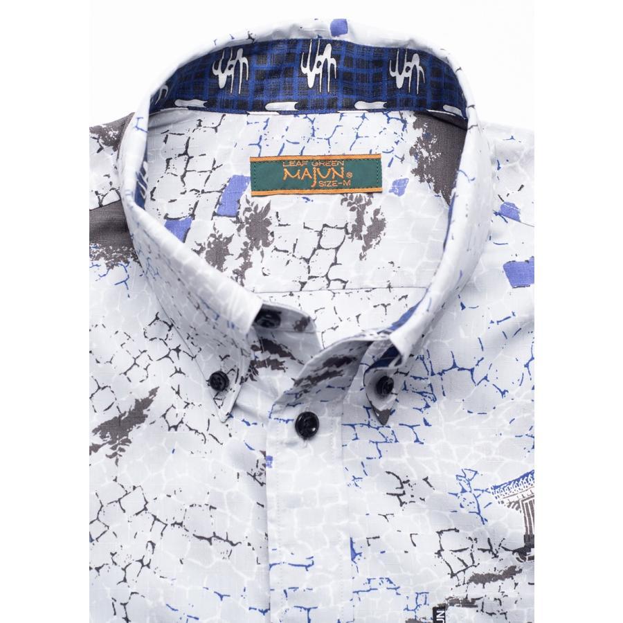 かりゆしウェア 沖縄版 アロハシャツ MAJUN マジュン メンズ 半袖シャツ ボタンダウン 【送料・代引手数料無料】 砌杜(みぎりもり)|majun|14
