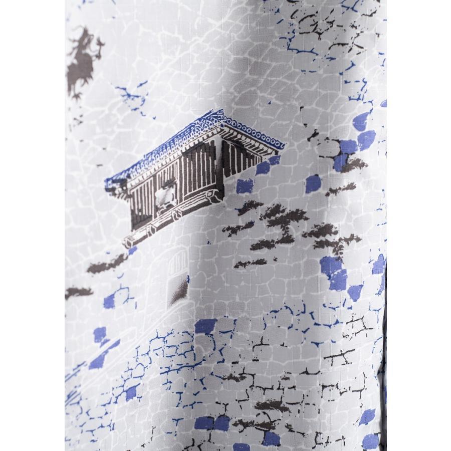 かりゆしウェア 沖縄版 アロハシャツ MAJUN マジュン メンズ 半袖シャツ ボタンダウン 【送料・代引手数料無料】 砌杜(みぎりもり)|majun|17