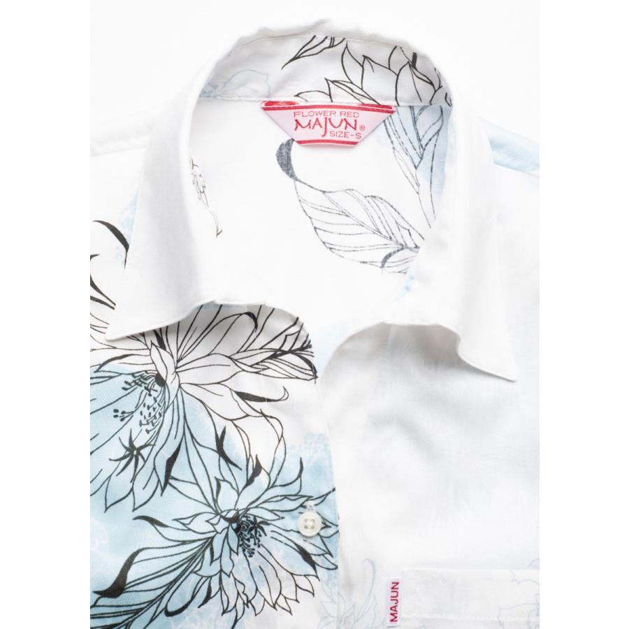 かりゆしウェア 沖縄 アロハシャツ MAJUN マジュン かりゆし 結婚式 レディースシャツスキッパー海水菓 majun 14