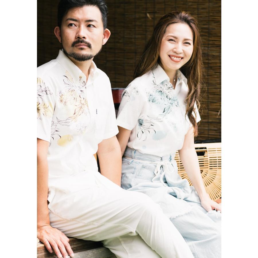 かりゆしウェア 沖縄 アロハシャツ MAJUN マジュン かりゆし 結婚式 レディースシャツスキッパー海水菓 majun 09