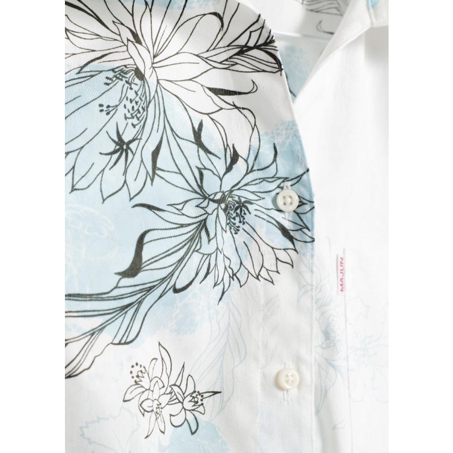 かりゆしウェア 沖縄 アロハシャツ MAJUN マジュン かりゆし 結婚式 レディースシャツスキッパー海水菓 majun 10