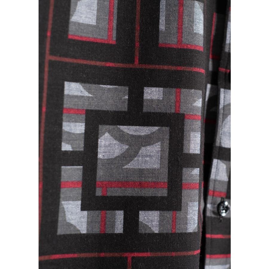 かりゆしウェア シャツ 結婚式 メンズ 半袖 ボタンダウン 大きいサイズ 沖縄 アロハシャツ ギフト プレゼント 国産 ブロックライン|majun|16