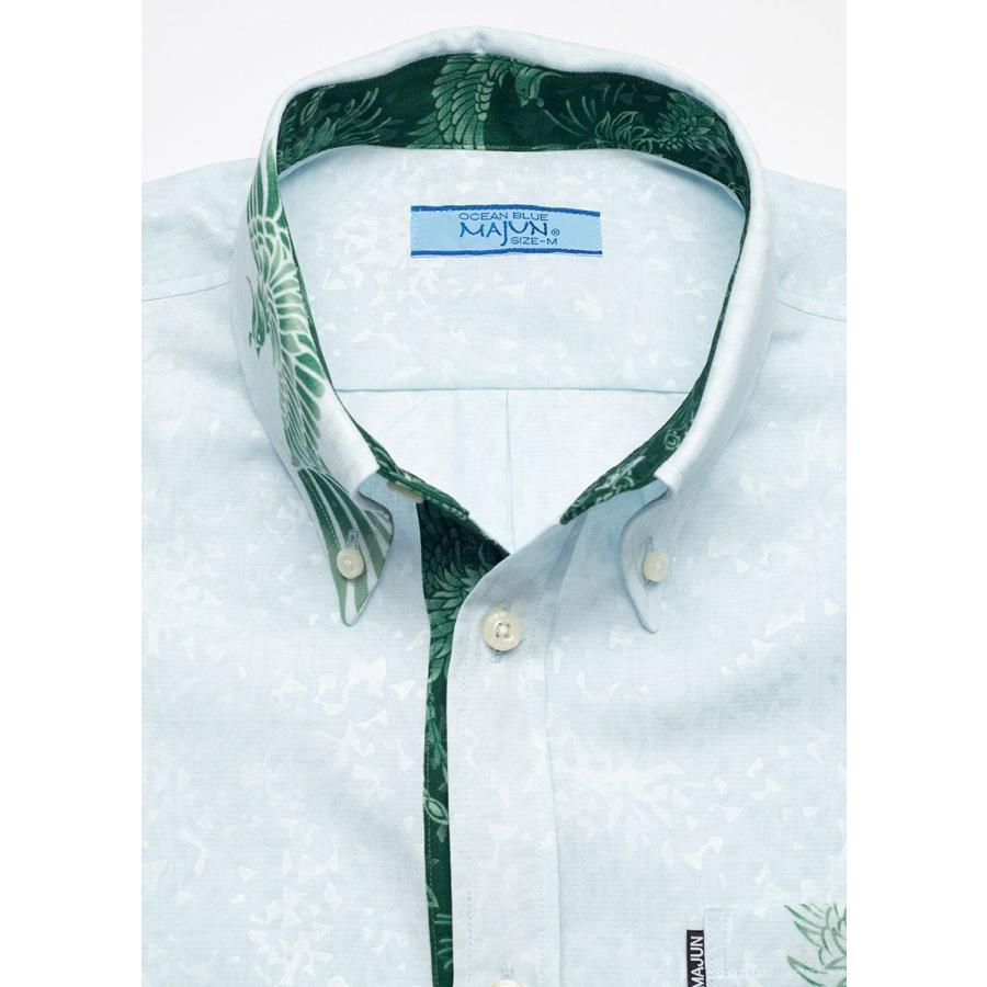 かりゆしウェア シャツ 結婚式 メンズ 半袖 ボタンダウン 大きいサイズ 沖縄 アロハシャツ ギフト プレゼント 国産 フェニックス煌 majun 12