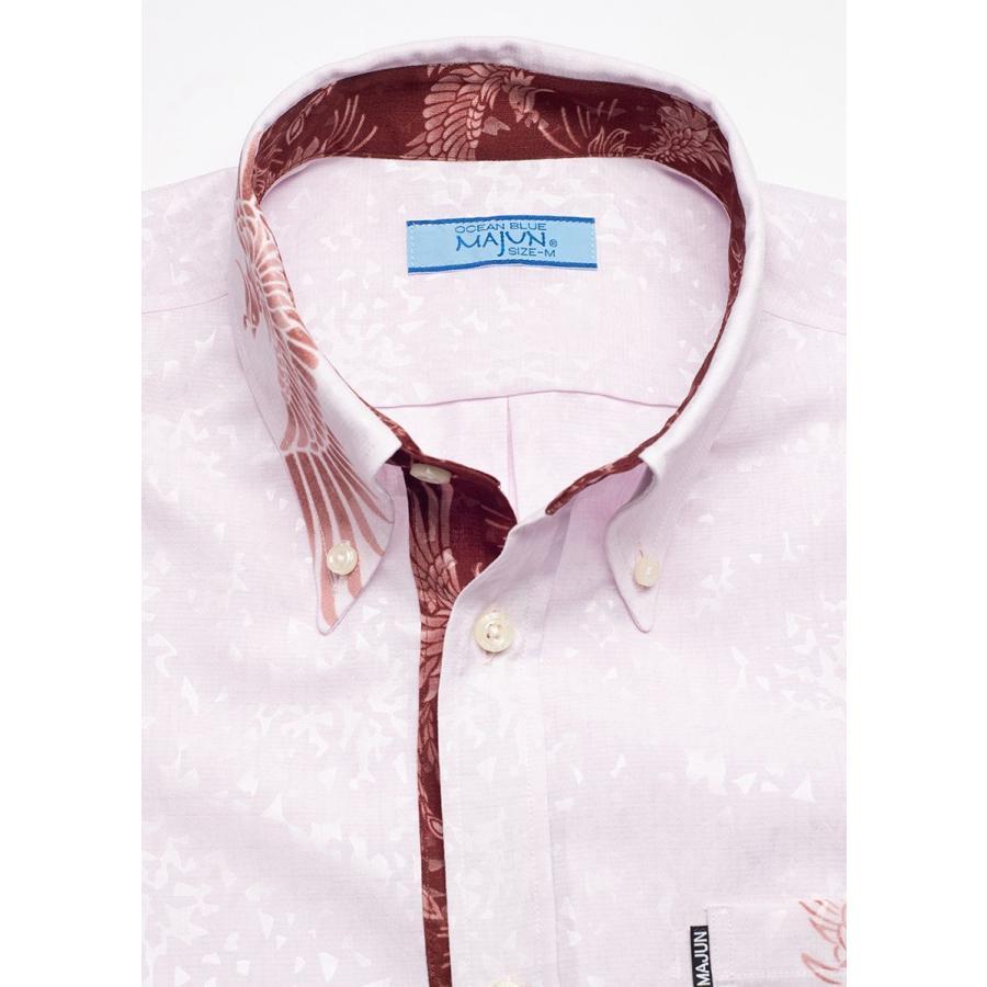 かりゆしウェア シャツ 結婚式 メンズ 半袖 ボタンダウン 大きいサイズ 沖縄 アロハシャツ ギフト プレゼント 国産 フェニックス煌 majun 13