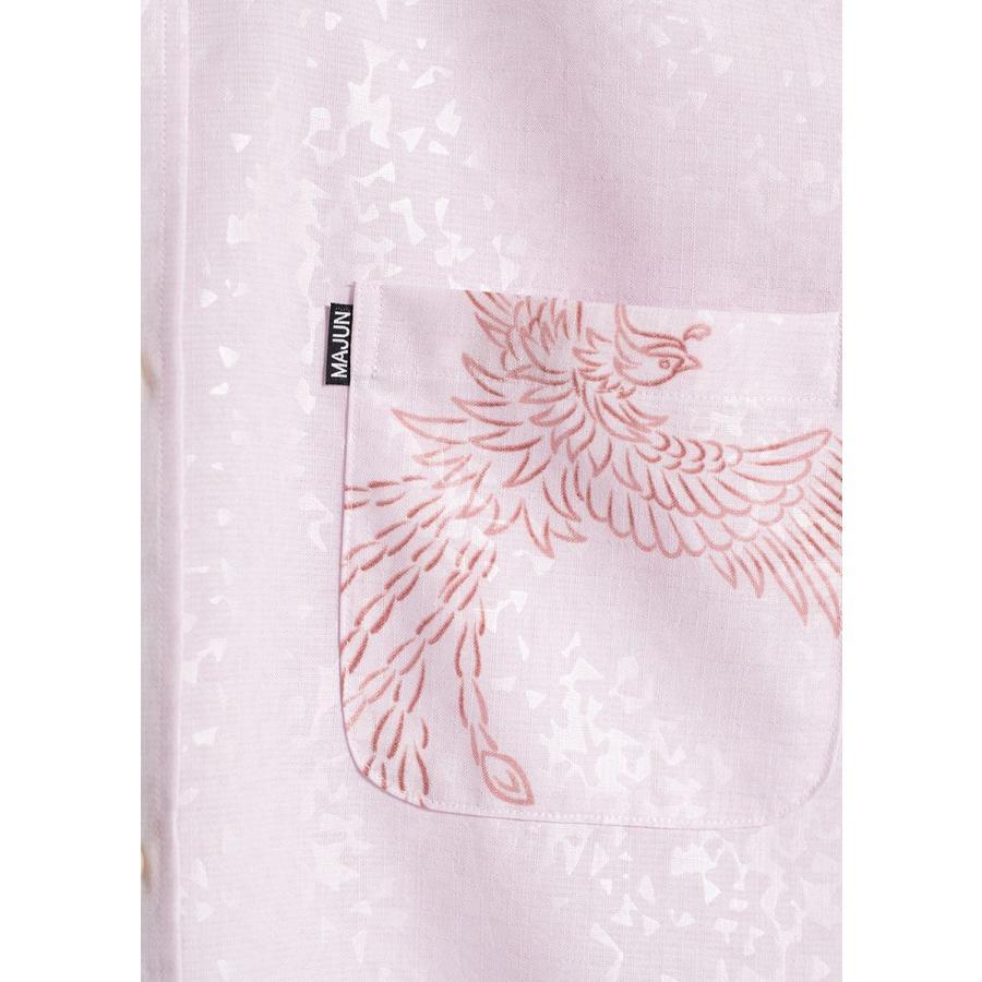 かりゆしウェア シャツ 結婚式 メンズ 半袖 ボタンダウン 大きいサイズ 沖縄 アロハシャツ ギフト プレゼント 国産 フェニックス煌 majun 16