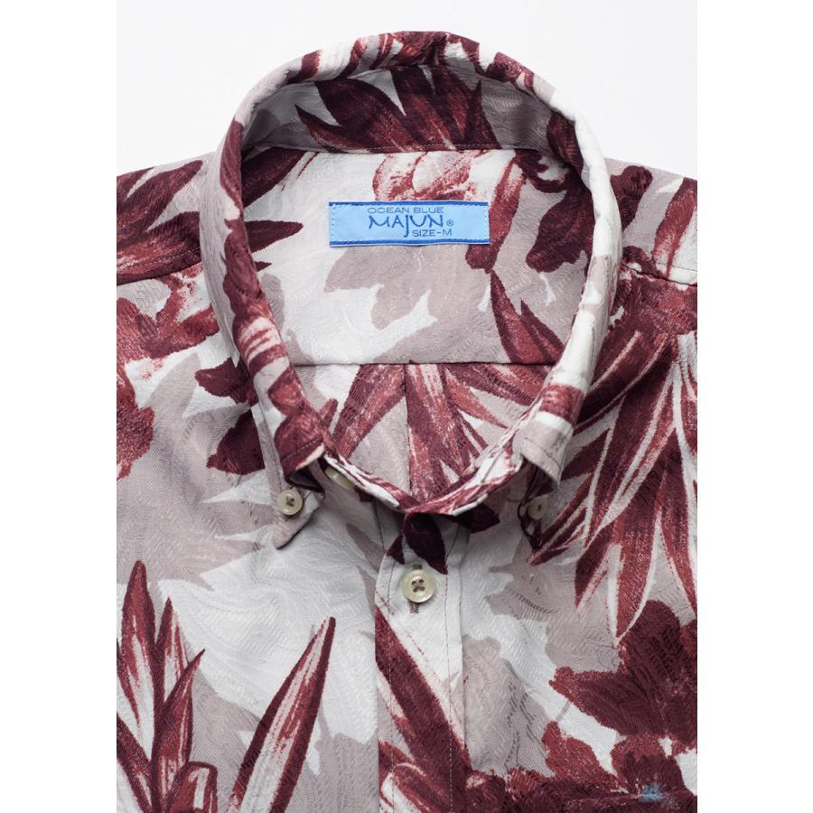 かりゆしウェア 沖縄 アロハシャツ MAJUN マジュン かりゆし 結婚式 メンズ半袖シャツボタンダウン 送料/代引手数料無料 アザレアライト majun 15