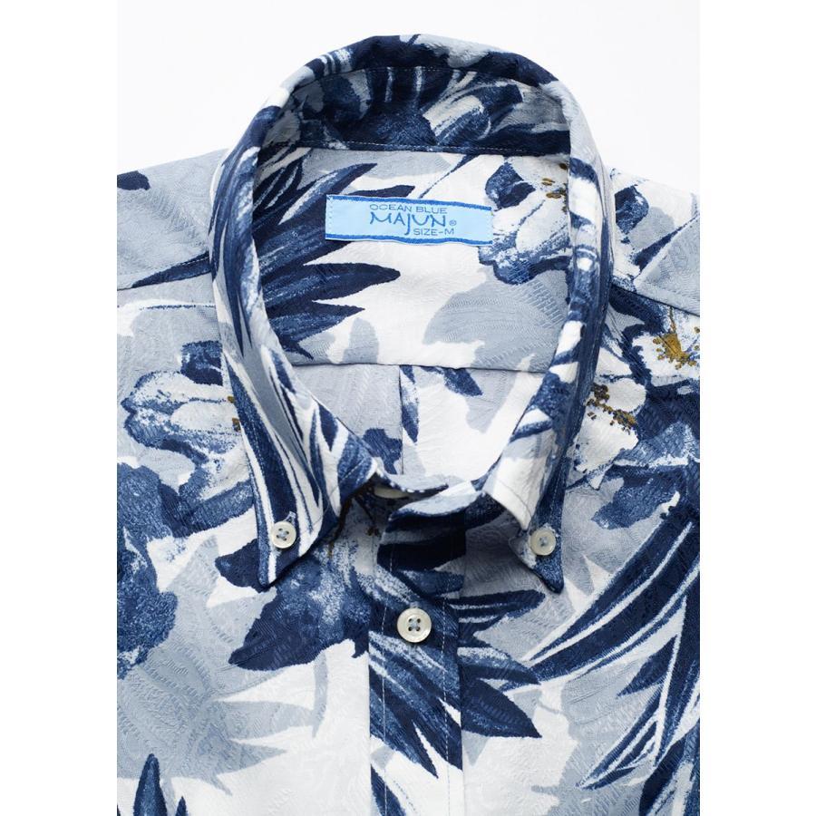 かりゆしウェア 沖縄 アロハシャツ MAJUN マジュン かりゆし 結婚式 メンズ半袖シャツボタンダウン 送料/代引手数料無料 アザレアライト majun 19