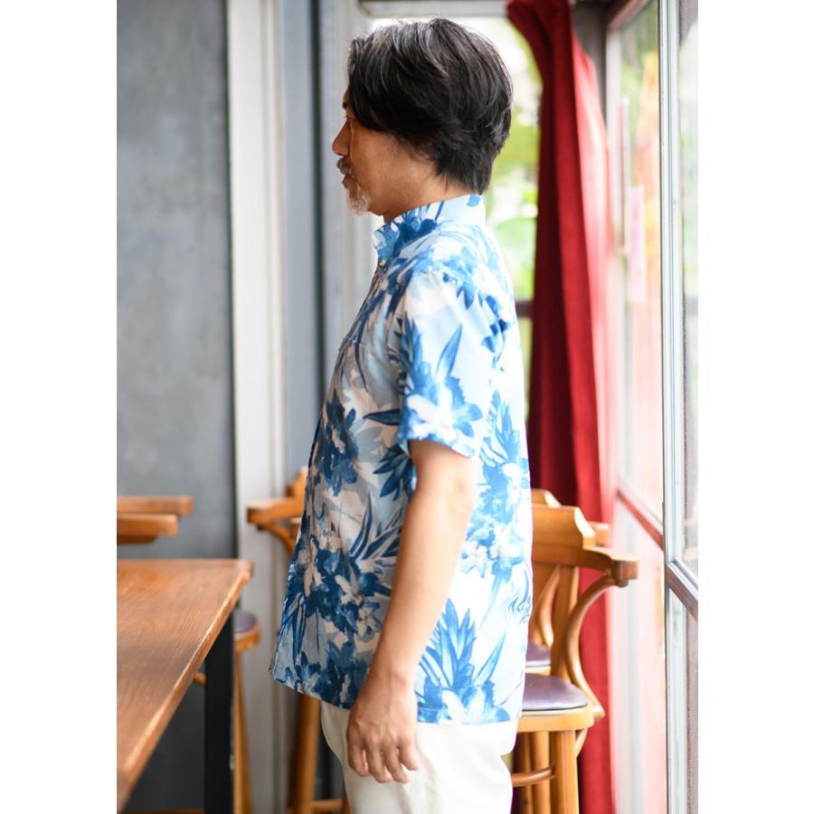 かりゆしウェア 沖縄 アロハシャツ MAJUN マジュン かりゆし 結婚式 メンズ半袖シャツボタンダウン 送料/代引手数料無料 アザレアライト majun 04