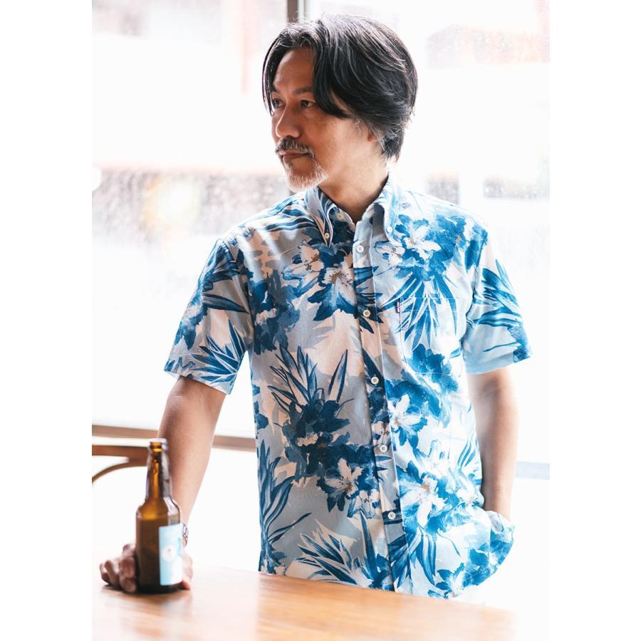 かりゆしウェア 沖縄 アロハシャツ MAJUN マジュン かりゆし 結婚式 メンズ半袖シャツボタンダウン 送料/代引手数料無料 アザレアライト majun 10