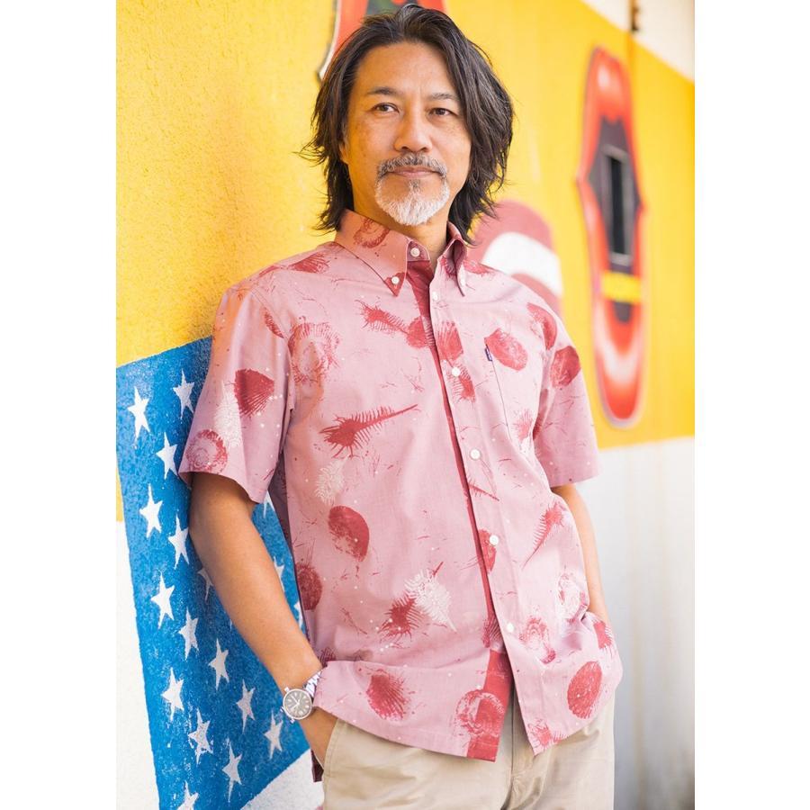 かりゆしウェア シャツ 結婚式 メンズ 半袖 ボタンダウン 大きいサイズ 沖縄 アロハシャツ ギフト プレゼント 国産 スターシェル majun 11