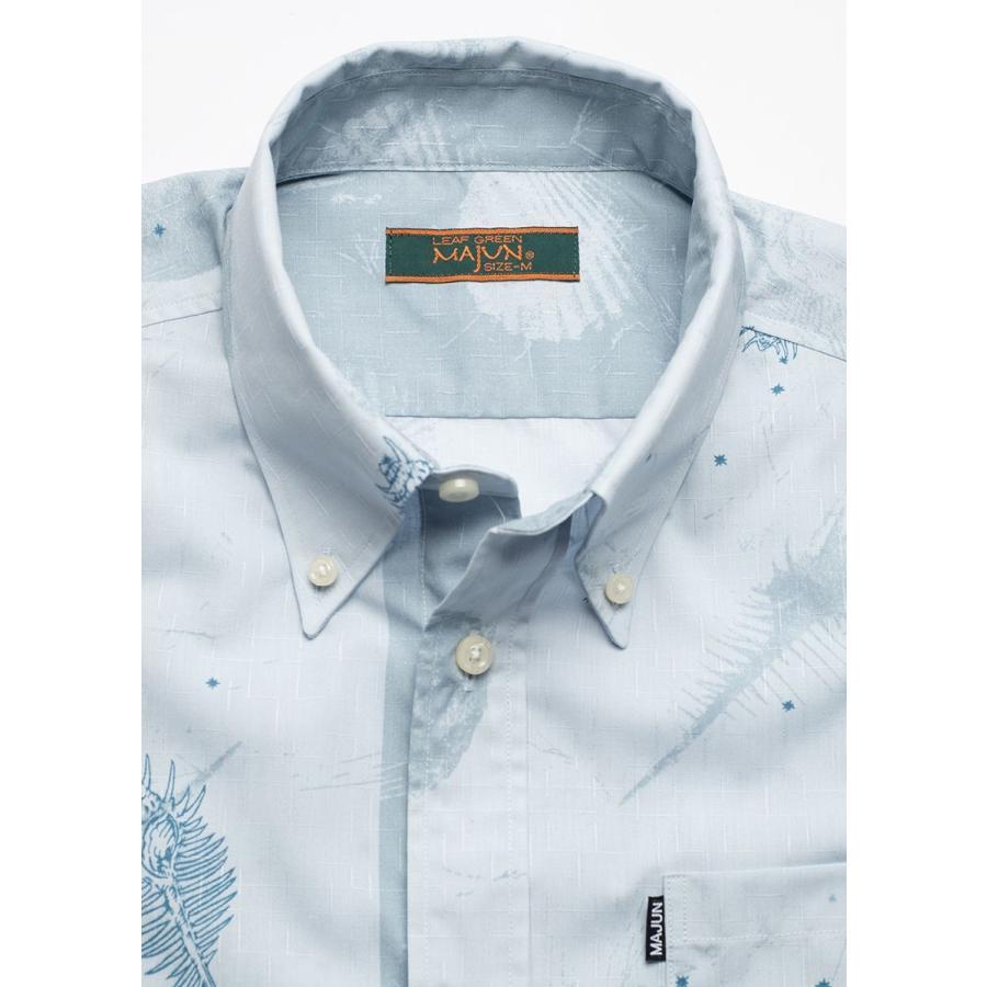 かりゆしウェア シャツ 結婚式 メンズ 半袖 ボタンダウン 大きいサイズ 沖縄 アロハシャツ ギフト プレゼント 国産 スターシェル majun 12