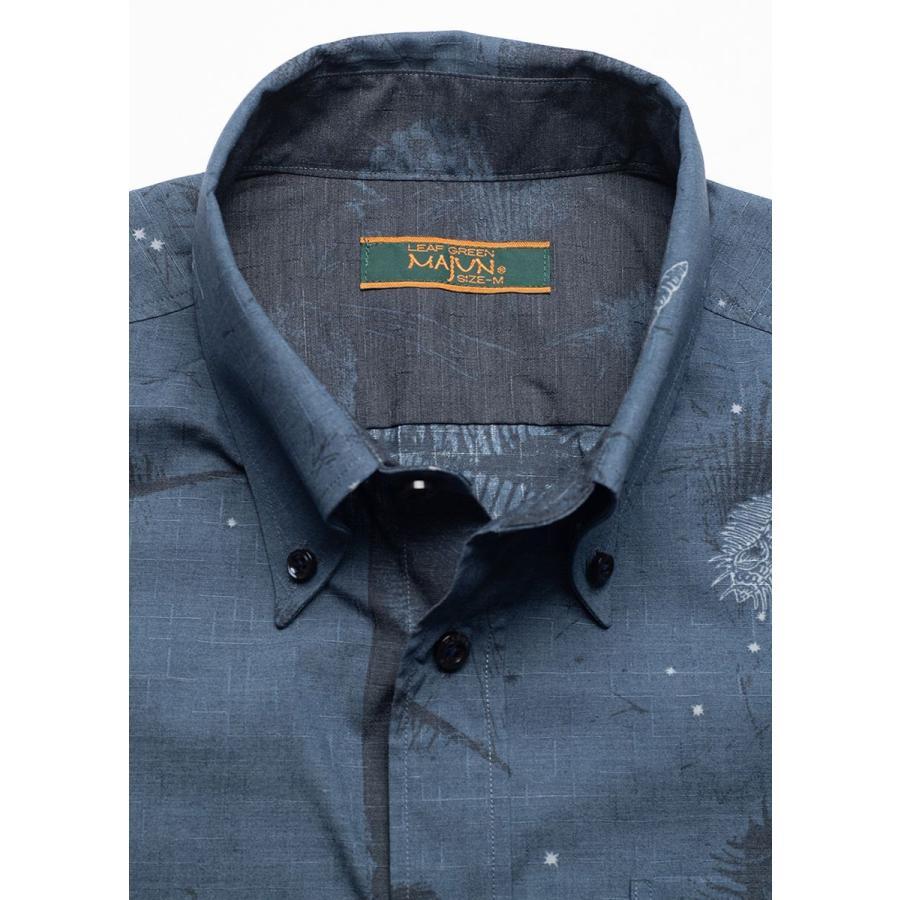 かりゆしウェア シャツ 結婚式 メンズ 半袖 ボタンダウン 大きいサイズ 沖縄 アロハシャツ ギフト プレゼント 国産 スターシェル majun 14