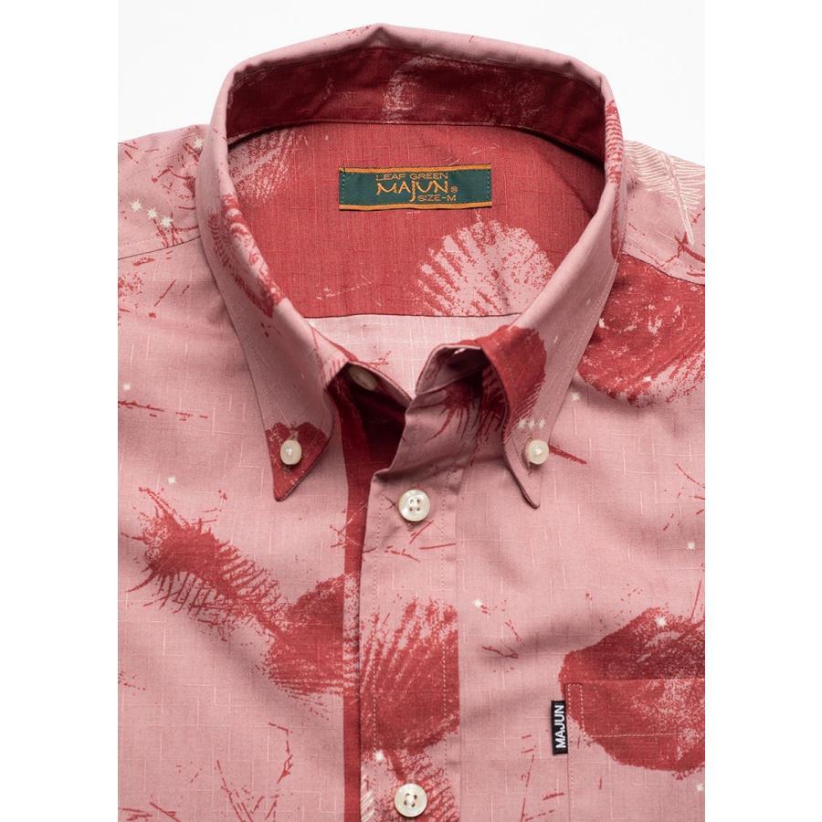かりゆしウェア シャツ 結婚式 メンズ 半袖 ボタンダウン 大きいサイズ 沖縄 アロハシャツ ギフト プレゼント 国産 スターシェル majun 15