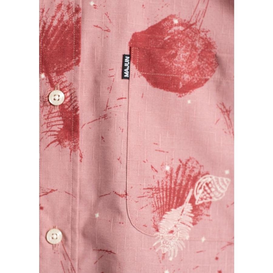かりゆしウェア シャツ 結婚式 メンズ 半袖 ボタンダウン 大きいサイズ 沖縄 アロハシャツ ギフト プレゼント 国産 スターシェル majun 18