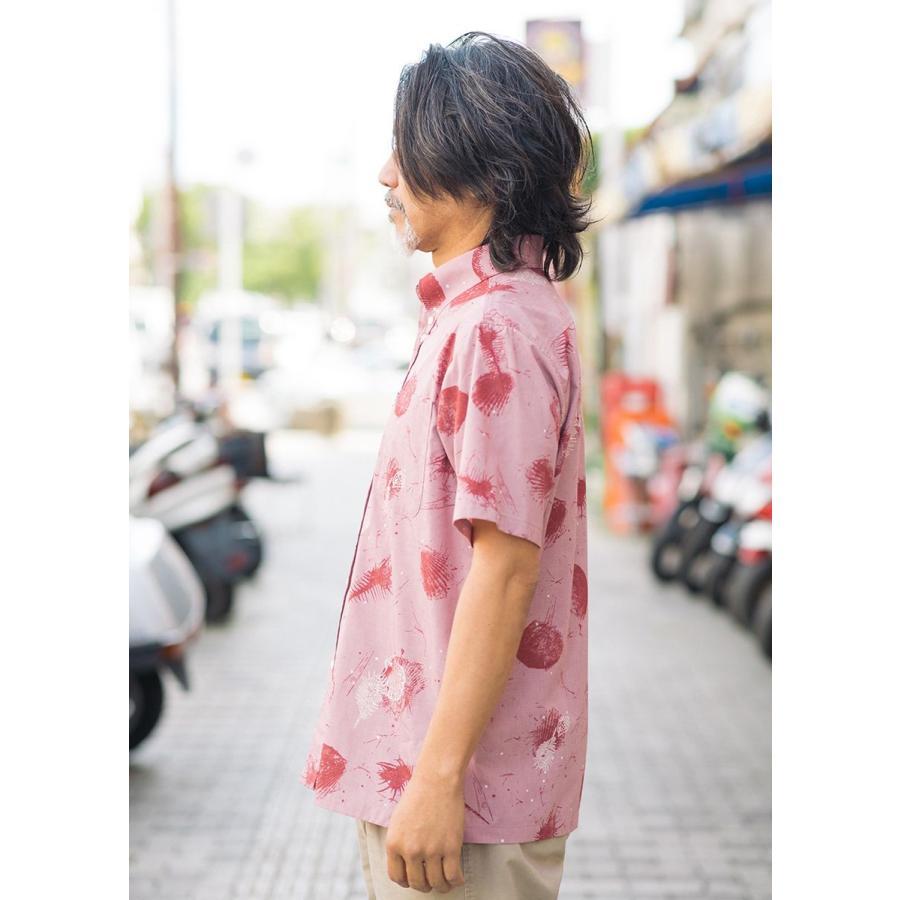 かりゆしウェア シャツ 結婚式 メンズ 半袖 ボタンダウン 大きいサイズ 沖縄 アロハシャツ ギフト プレゼント 国産 スターシェル majun 04