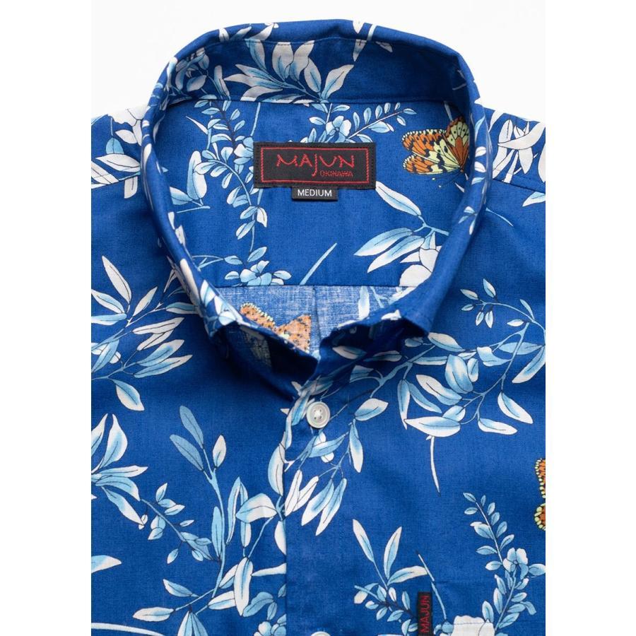 かりゆしウェア シャツ 結婚式 メンズ 半袖 ボタンダウン 大きいサイズ 沖縄 アロハシャツ ギフト プレゼント 国産 クリアボタニカル|majun|12
