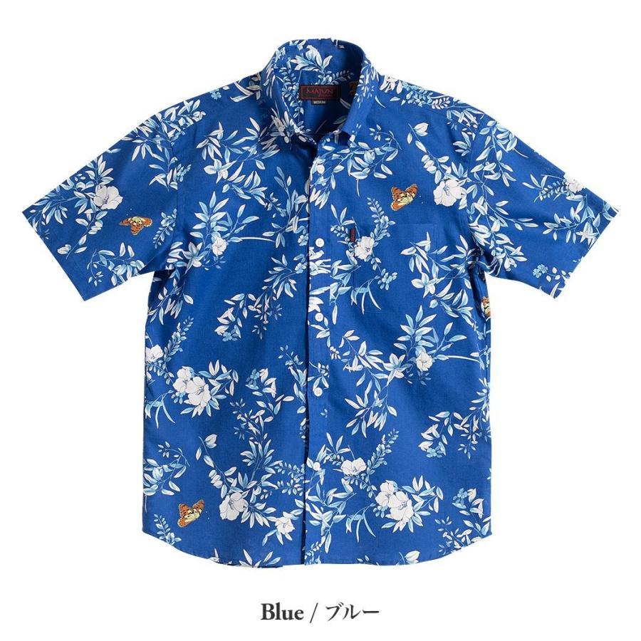 かりゆしウェア シャツ 結婚式 メンズ 半袖 ボタンダウン 大きいサイズ 沖縄 アロハシャツ ギフト プレゼント 国産 クリアボタニカル|majun|06