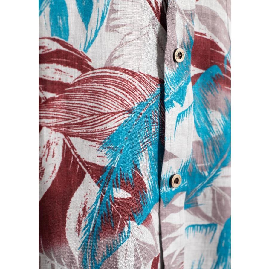 かりゆしウェア シャツ 結婚式 メンズ 半袖 ボタンダウン 大きいサイズ 沖縄 アロハシャツ ギフト プレゼント 国産 コレクトリーフ|majun|18