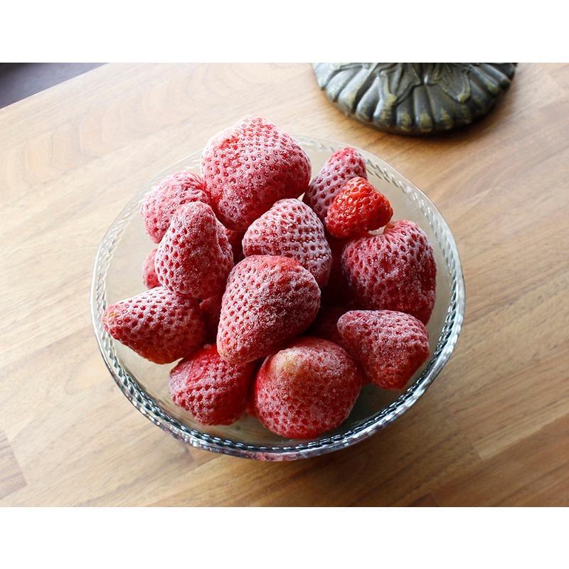 冷凍いちご (1kg) 国産 無添加 お子様のおやつやデザートに最適  mak