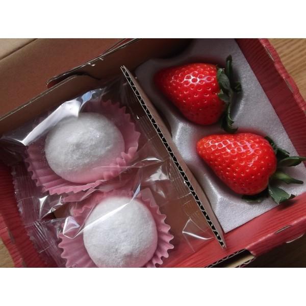 苺大福 いちごのしあわせ 和菓子 ギフト (2個セット) mak
