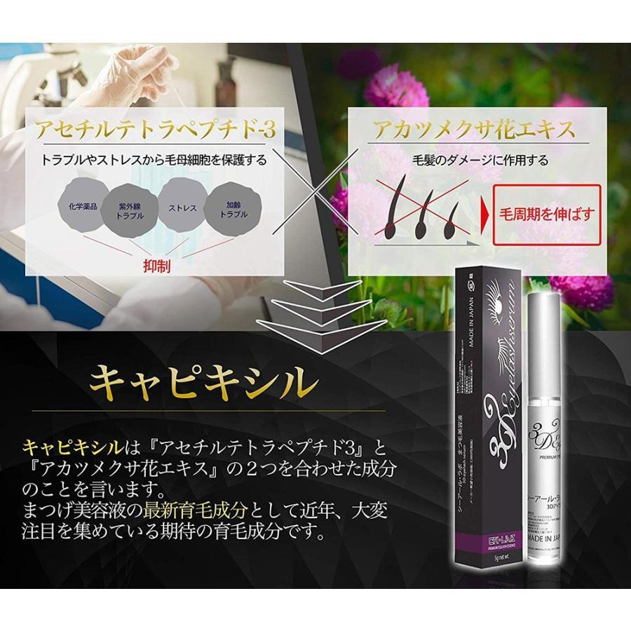 まつげ美容液 3Dアイラッシュセラム キャピキシル高濃度配合 日本産 7g CR-lab シーアール・ラボ ネコポス 送料無料|makanainc|03
