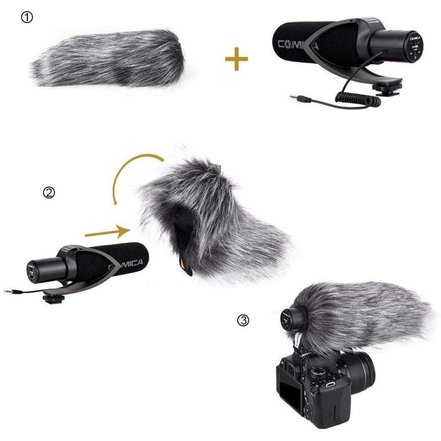 COMICA CVM-V30 PRO カメラマイク 単一指向性 コンデンサーガンビデオマイク DSLR/Canon/Nikon/Sony Panasonic用 3.5mm|makanainc|06