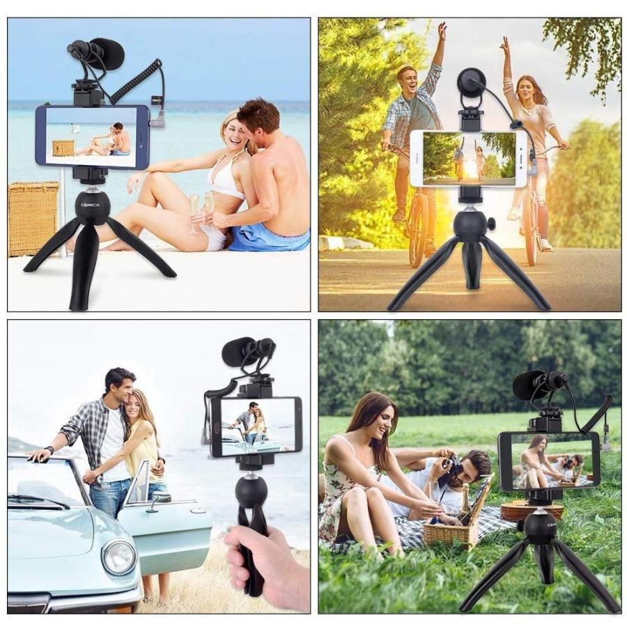スマートフォンマイク COMICA CVM-VM10-K2ミニ三脚付き、ショットガンビデオカメラマイク iphone samsung用など スマートフォンカメラマン|makanainc|06