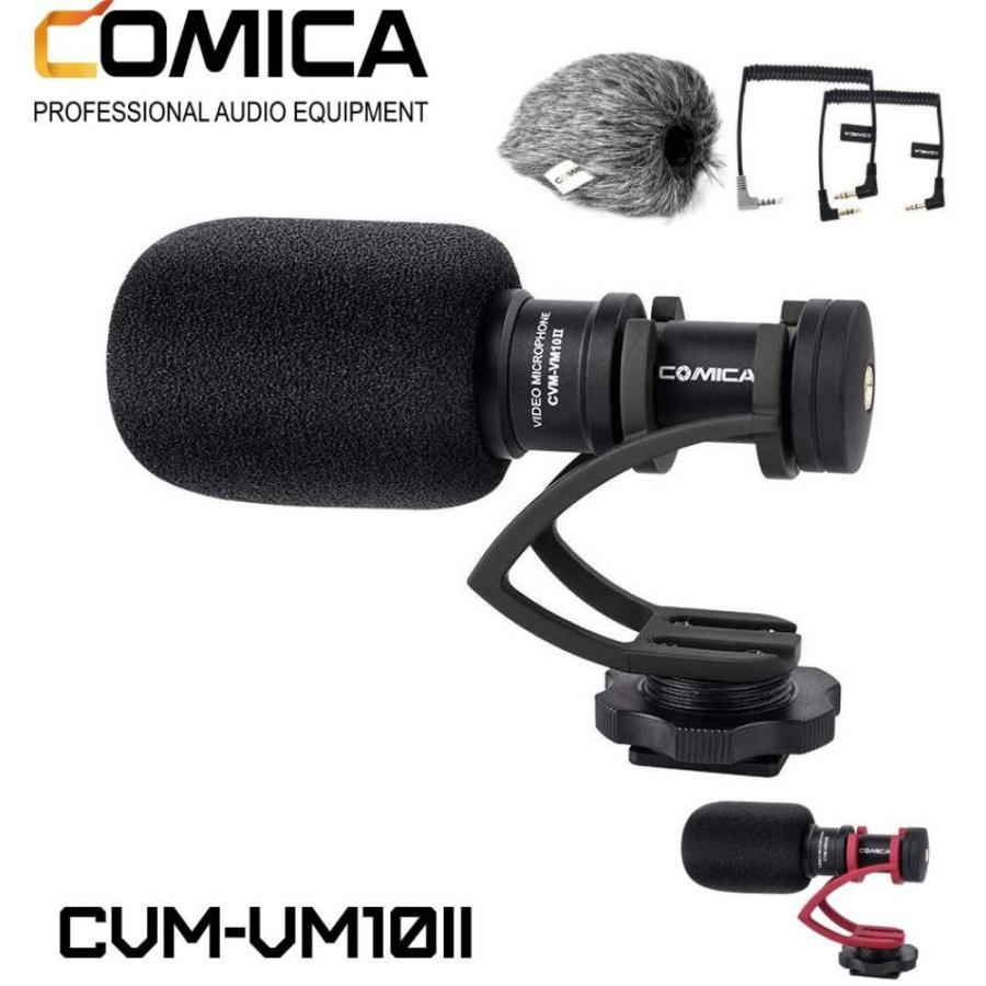 COMICA CVM-VM10II 外付けマイク ショットガンマイク カーディオイド指向性 コンデンサーマイクロフォン スマートフォン Goproやカメラに対応|makanainc