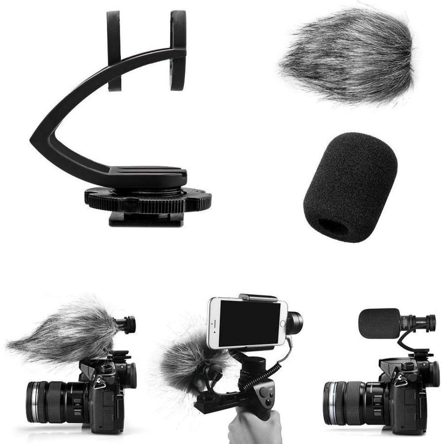 COMICA CVM-VM10II 外付けマイク ショットガンマイク カーディオイド指向性 コンデンサーマイクロフォン スマートフォン Goproやカメラに対応|makanainc|02