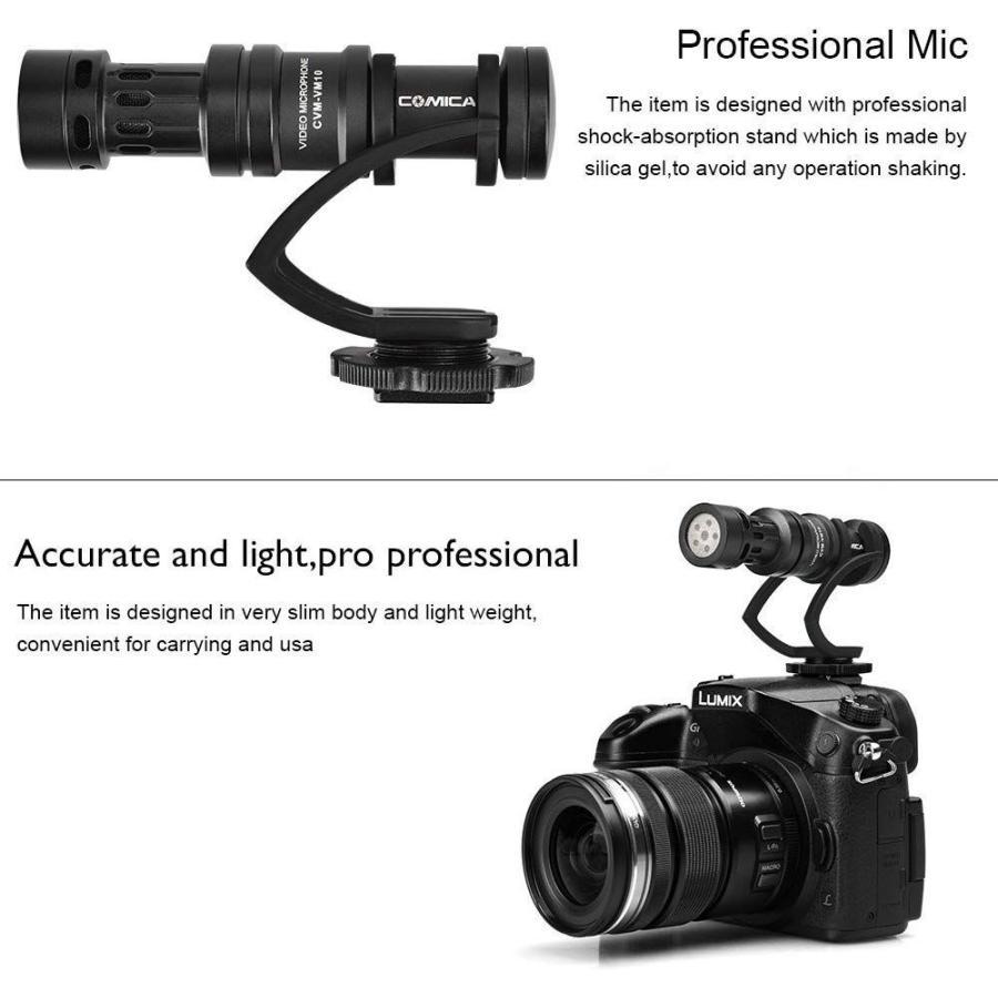 COMICA CVM-VM10II 外付けマイク ショットガンマイク カーディオイド指向性 コンデンサーマイクロフォン スマートフォン Goproやカメラに対応|makanainc|03