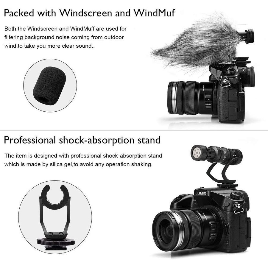 COMICA CVM-VM10II 外付けマイク ショットガンマイク カーディオイド指向性 コンデンサーマイクロフォン スマートフォン Goproやカメラに対応|makanainc|04