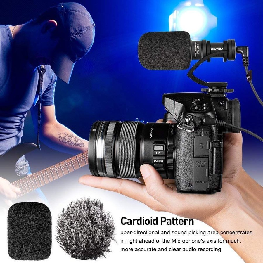 COMICA CVM-VM10II 外付けマイク ショットガンマイク カーディオイド指向性 コンデンサーマイクロフォン スマートフォン Goproやカメラに対応|makanainc|06