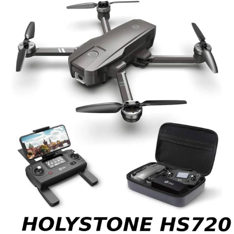 Holy Stone HS720 ドローン GPS搭載 折り畳み 4K広角カメラ付き フライト時間26分 ブラシレスモーター 収納ケース付き オートリターンモード フォローミーモード|makanainc