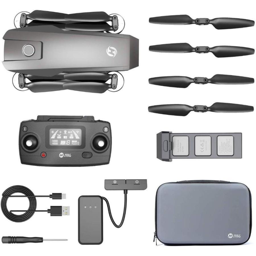 Holy Stone HS720 ドローン GPS搭載 折り畳み 4K広角カメラ付き フライト時間26分 ブラシレスモーター 収納ケース付き オートリターンモード フォローミーモード|makanainc|09