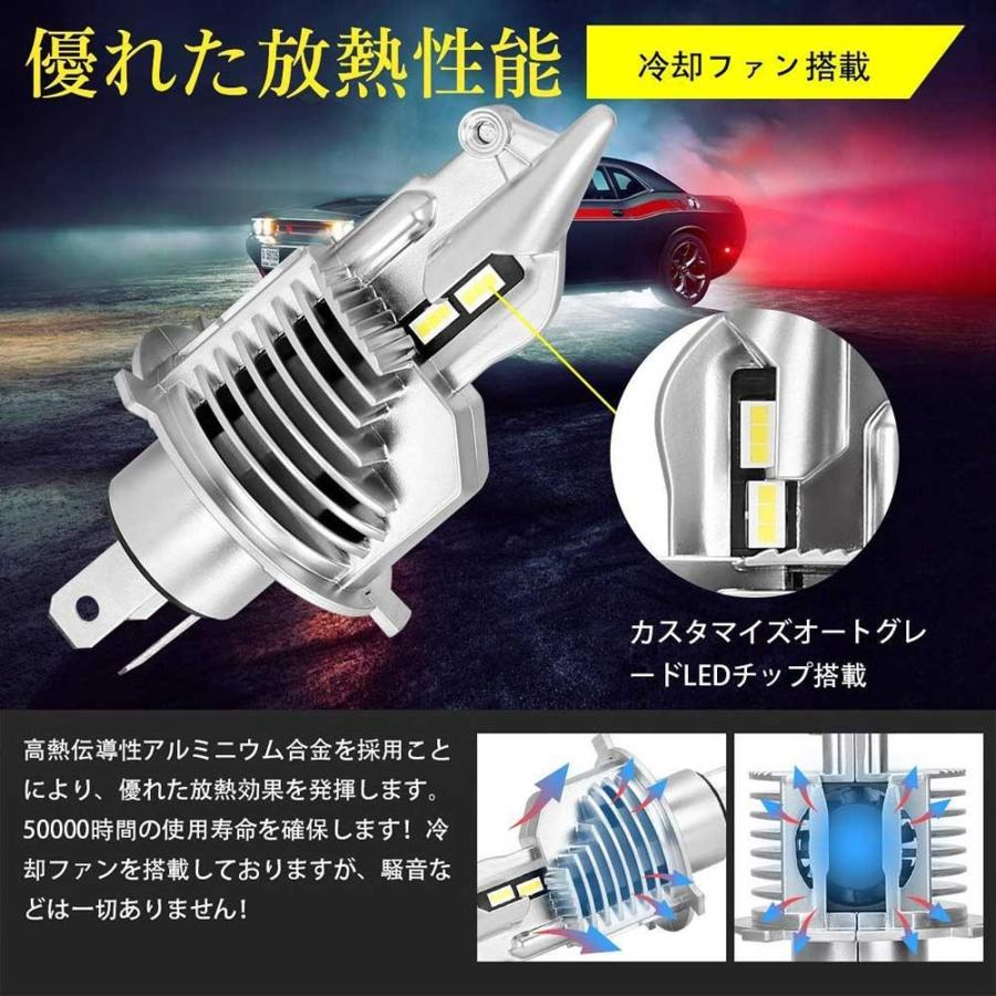SUPAREE H4 LED ヘッドライト HI/LO 新車検対応 車/バイク用 8000LM 27W ホワイト 6500K LEDバルブ 1個入|makanainc|07