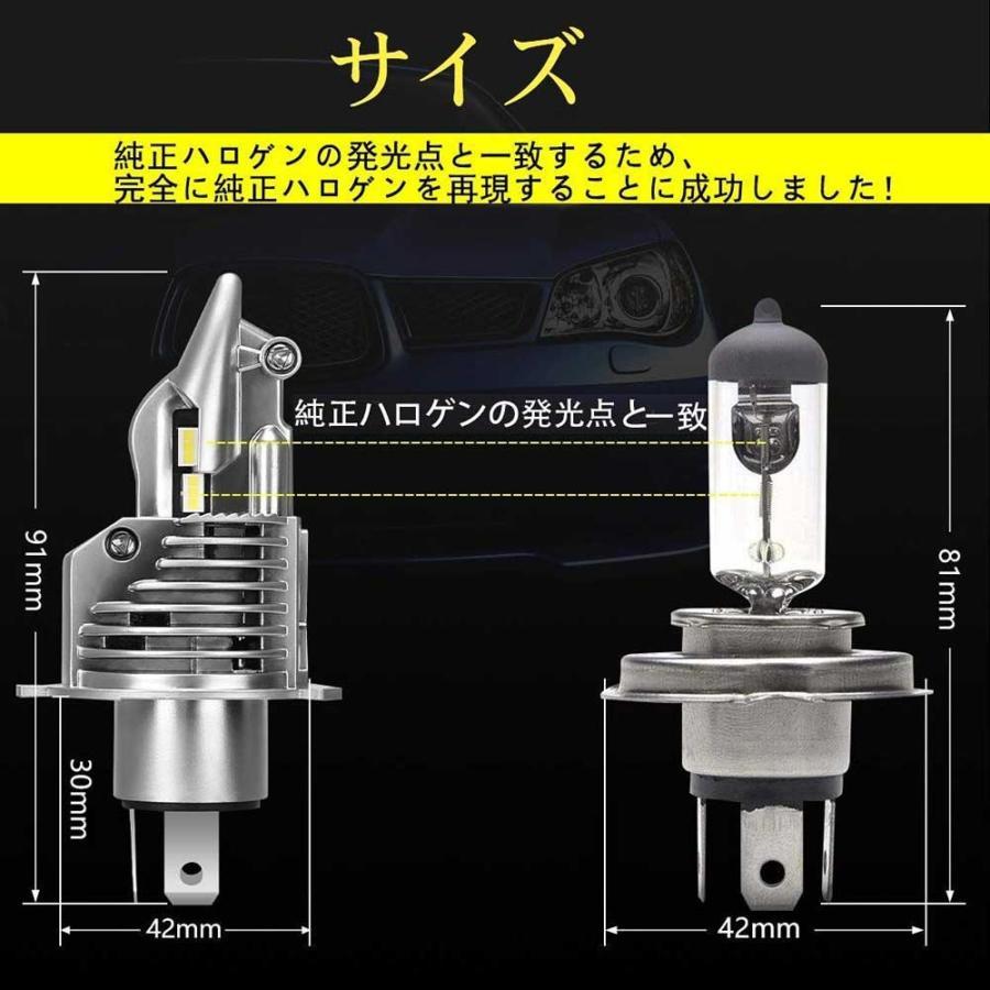 SUPAREE H4 LED ヘッドライト HI/LO 新車検対応 車/バイク用 8000LM 27W ホワイト 6500K LEDバルブ 1個入|makanainc|08