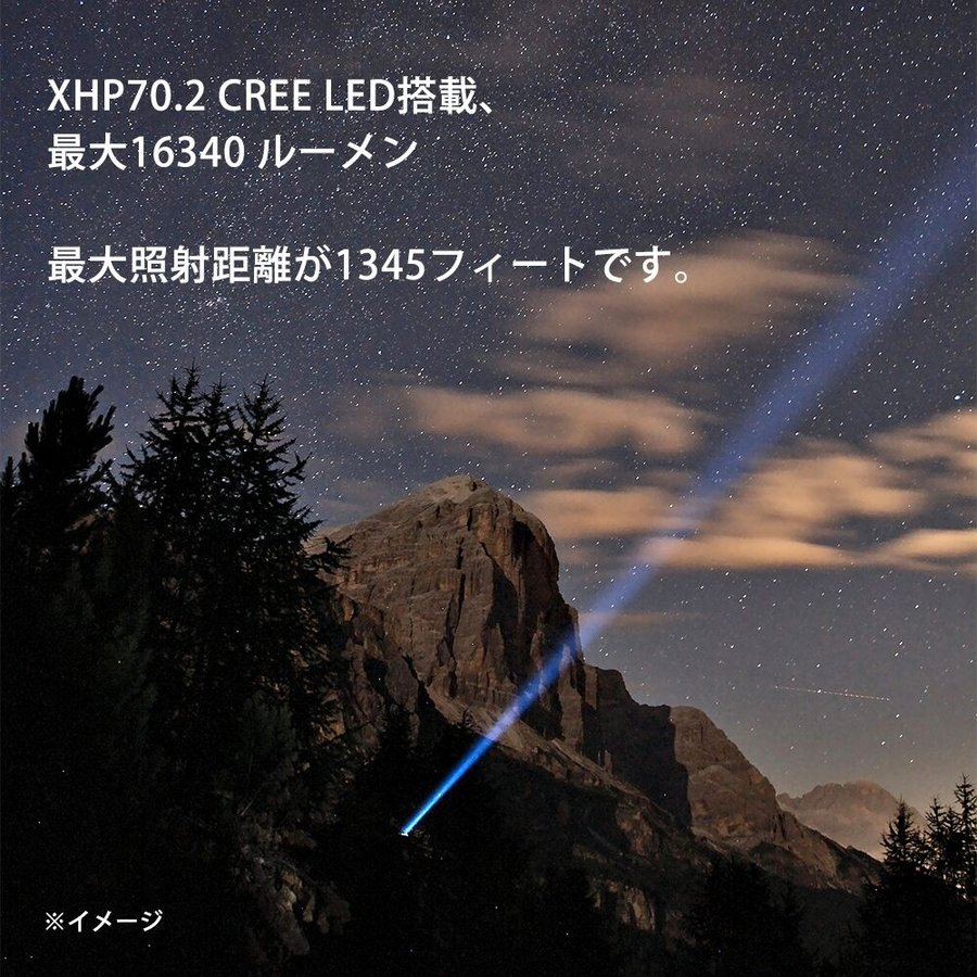 ThruNite TN50 16340ルーメン 充電式 LEDフラッシュライト CREE XHP70.2|makanainc|02