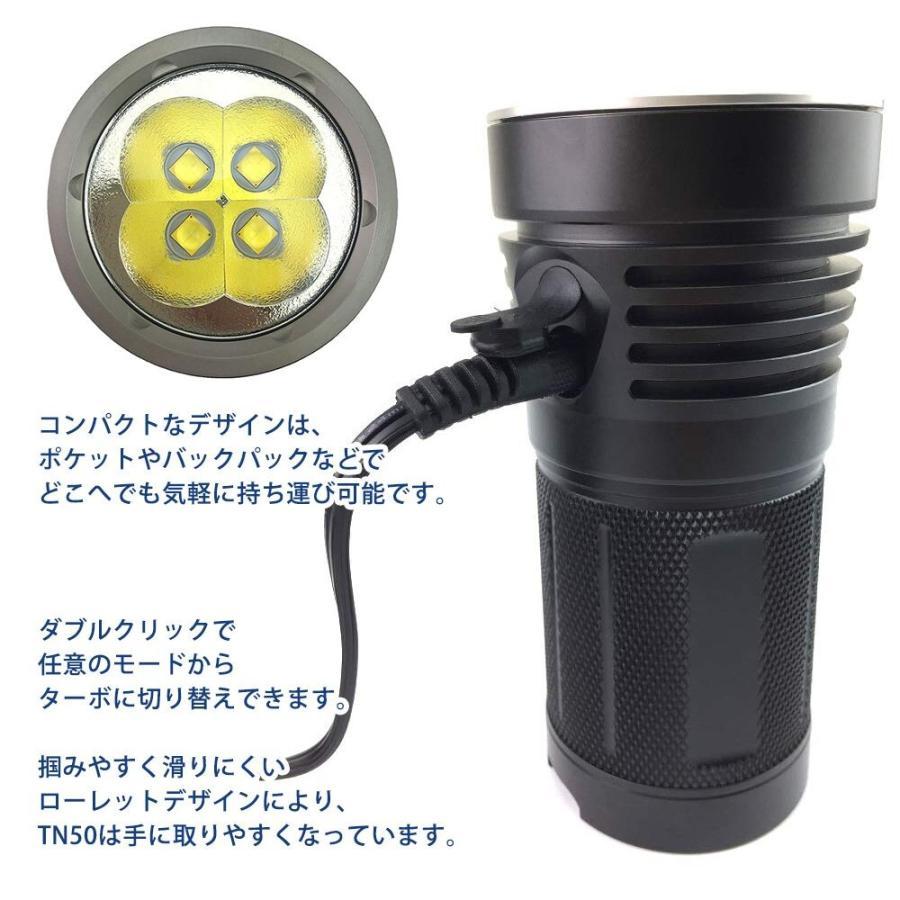 ThruNite TN50 16340ルーメン 充電式 LEDフラッシュライト CREE XHP70.2|makanainc|04