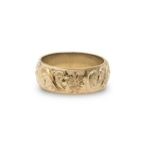 【SALE】 ハワイアンジュエリー jewelry リング 指輪 オーダーメイド シングルトーンリング 8mm幅×1.5mm厚 バレルタイプ ブライダルリング ペア メンズ レディース, レザージャケットのリューグー 406f9074