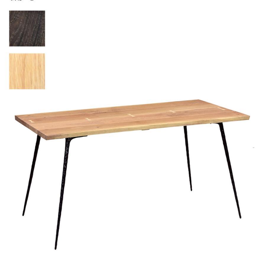 ネクサ ダイニングテーブル 160 SEA赤-OAK/BK-LEG RAW-