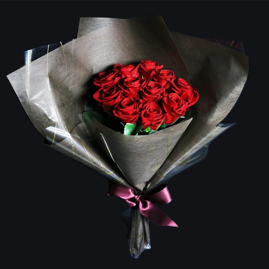 プリザーブドフラワー プレゼント ギフト 花 バラ 花束 11本 赤い薔薇 茎-造花 プロポーズ 結婚記念日 花言葉は最愛 母の日|makefuture|04