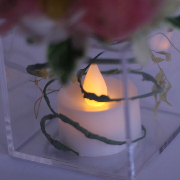 プリザーブドフラワー プレゼント ギフト 花 ほのかに揺れる LEDキャンドル アレンジ ゆらぎ お祝い 母の日 makefuture 04