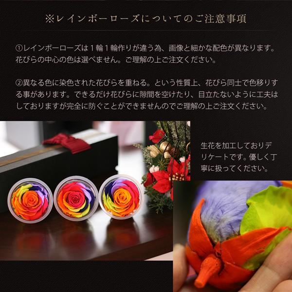 プリザーブドフラワー レインボーローズ 花 プレゼント薔薇 一輪 花言葉は奇跡 Rainbow Rose|makefuture|06