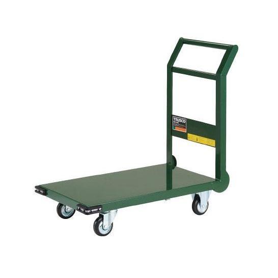 鋼鉄製運搬車台車 800X450 Φ100プレス車 緑 SH3NGN