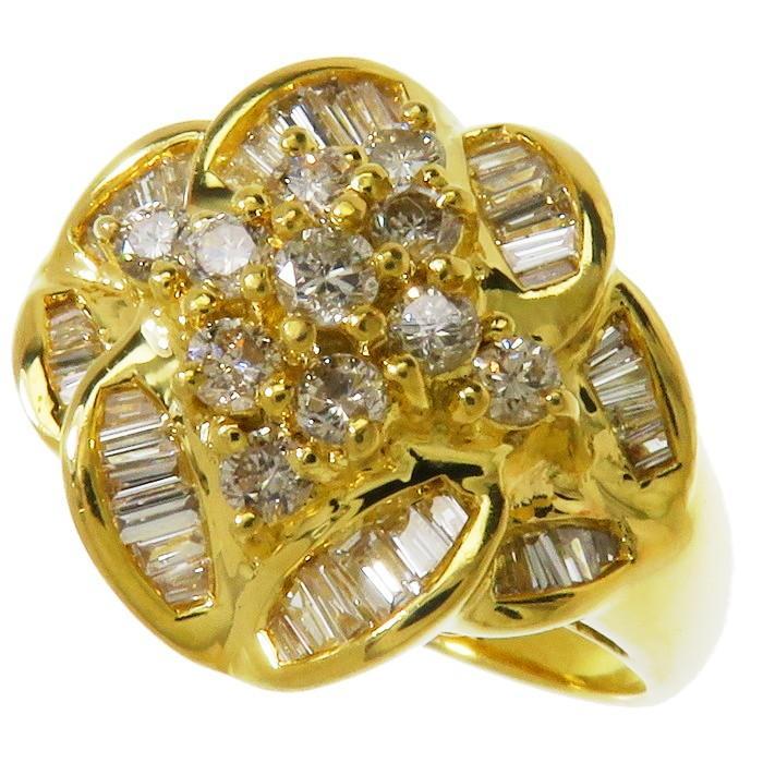 品揃え豊富で 14.5号 リング・指輪 ダイヤモンド 計1.00ct レディース リング・指輪 6.5g K18ゴールド 6.5g レディース, Grandeir:d428c9e0 --- airmodconsu.dominiotemporario.com