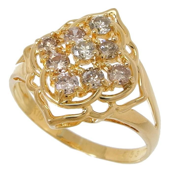 【2019春夏新作】 14号 ダイヤモンド 計0.53ct リング・指輪 K18ゴールド 2.6g レディース, 革物通販:財布バッグのサイド7 b3d4af86