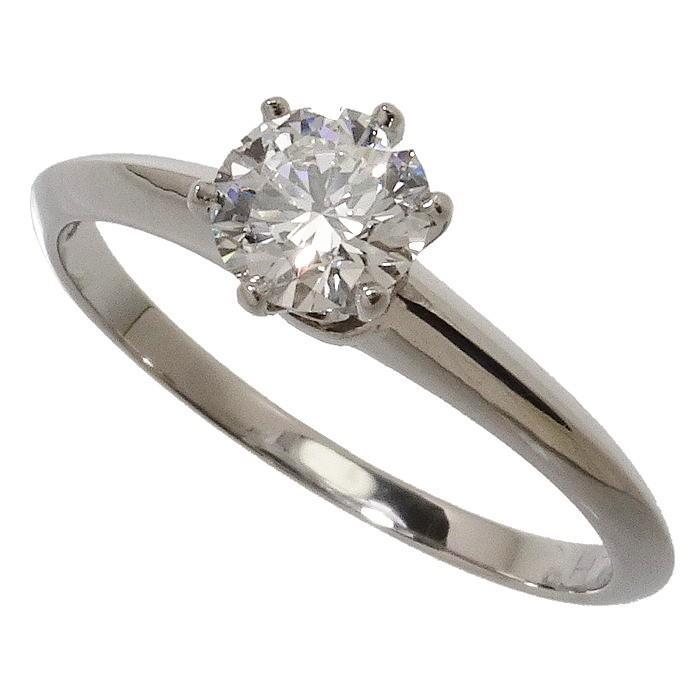 男女兼用 7.5号TIFFANY&Co./ティファニー ダイヤモンド 0.270ct リング・指輪 Pt950プラチナ 2.1g レディース, ひさしの総合メーカー e9d61fa3