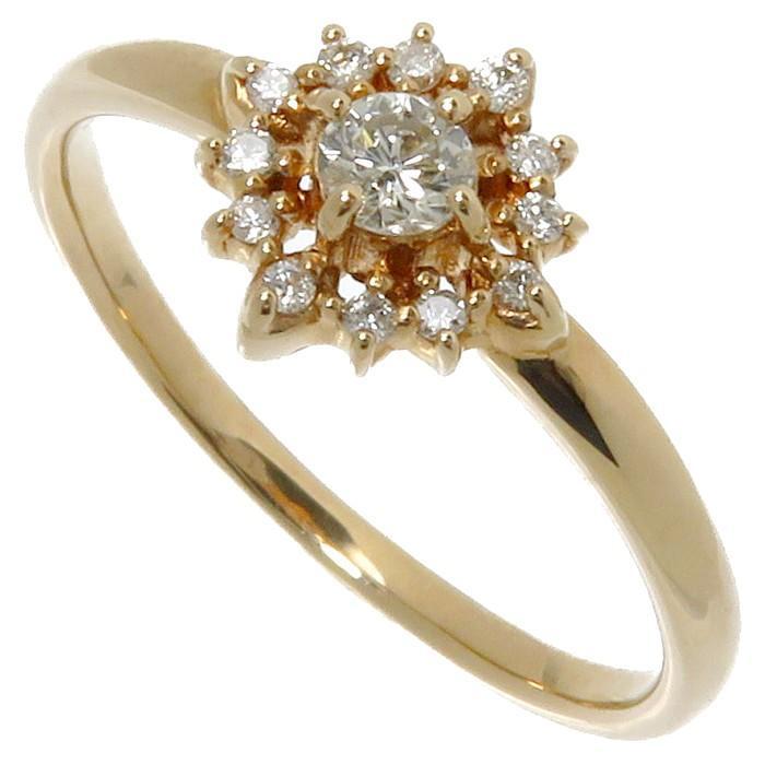 最新 11号 ダイヤモンド 計0.16ct リング・指輪 K18PGピンクゴールド 1.8g レディース, Dream Link 014d768a