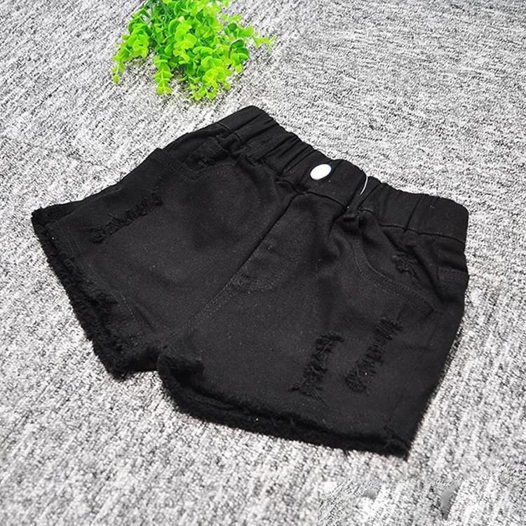 子供服 ショートパンツ デニム 女の子 ショーパン ダメージ加工 半ズボン 夏物 ボトムス ウエストゴム 女児 ハーフパンツ キッズ ジーパン|makonoi|11